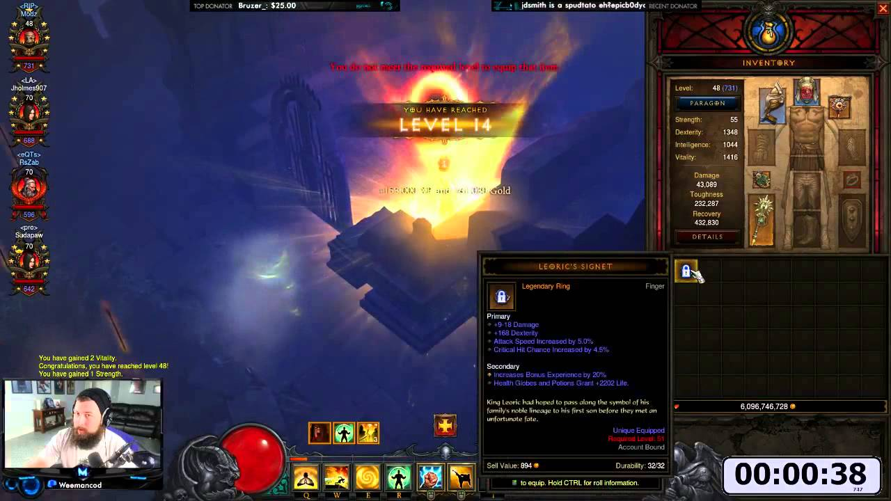 Diablo 3 power levelling to 70 in sixty seconds – Watch it in action